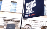 London Fashion Week Somerset House flag