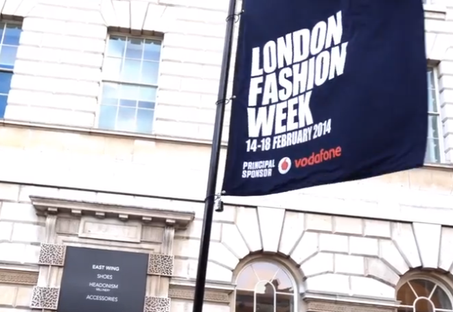 London Fashion Week Somerset House flag